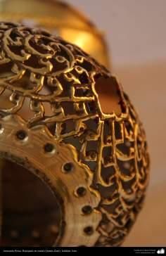 Artesanato Persa - metal em relevo (Qalam Zani) Isfahan, Irã - 23