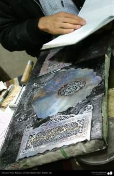 Artesanato Persa - metal em relevo (Qalam Zani) Isfahan, Irã - 26