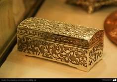 Artesanato Persa - metal em relevo (Qalam Zani) Isfahan, Irã - 1