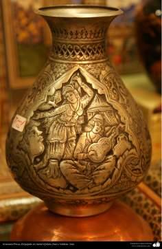 Artesanía Persa- Repujado en metal (Qalam Zani) - 21