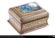 Исламское искусство - Ремесло - Хатам Кари (Инкрустация) - Декоративные вещи - Коробка - 58