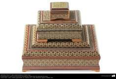 Artesanía Persa- Cajita ornamentada en Jatam Kari - 9
