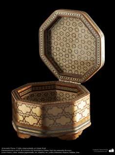 Artesanía Persa- Cajita ornamentada en Jatam Kari - 10