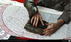 Artesanato Persa - Estampado tradicional em tecido (Chape Qalamkar) Isfahan, Irã - 6