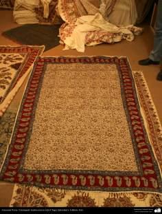 Artesanato Persa - Estampado tradicional em tecido (Chape Qalamkar) Isfahan, Irã - 11
