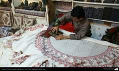 Persian Handicraft - Traditional Stamped on cloth (Chape Qalamkar) - 19