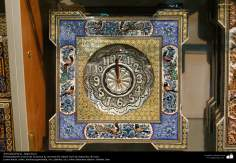 Artesanato Persa - Relógio trabalhado com a arte Khatam Kari (marchetaria e Ornamentação de objetos) Isfahan, Irã