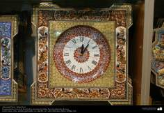Artesanato Persa - Relógio ornamentado - Khatam Kari (marchetaria e Ornamentação de objetos)