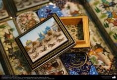 Artesanato Persa - Desenho e ornamentação - Khatam Kari (marchetaria e Ornamentação de objetos)