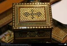 Artesanato Persa - Caixinha ornamentada Khatam Kari (marchetaria e ornamentação de objetos), Isfahan, Irã - 18