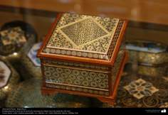 Artesanato Persa - Khatam Kari (marchetaria e Ornamentação de objetos) Isfahan, Irã - 11
