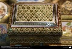 Artesanato Persa - Caixinha ornamentada Khatam Kari (marchetaria e ornamentação de objetos), Isfahan, Irã - 22