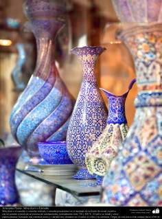 الفن الإسلامي - الحرف اليدوية الإسلامية - عمل فني المينا - اجسام المزخرفة - 10