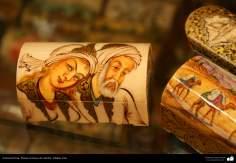 Artesanato Persa - Pintura em osso de camelo - Na famosa cidade de Isfahan, Irã - 4