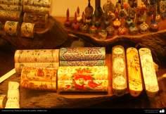Artesanato Persa - Pintura em osso de camelo - Na famosa cidade de Isfahan, Irã - 11