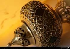 Artesanato Persa - metal em relevo (Qalam Zani) Isfahan, Irã - 18