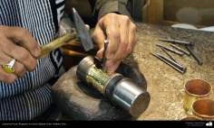Artesanía Persa- Repujado en metal (Qalam Zani) - 23