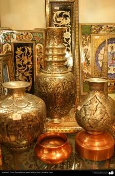 Artesanía Persa- Repujado en metal (Qalam Zani) - 19