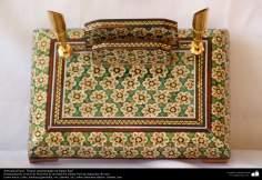 Persian Handicraft - Ornamented Inkwell in Khatami Kari - 22