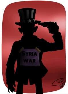 Caricatura - Ataque a Síria igual a suicídio
