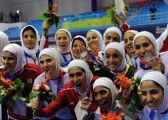 Les athlètes iraniens