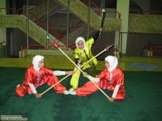Atletas iraníes de Wushu-muslim woman - 156