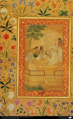 الفن الإسلامي – تحفة من المنمنمة الفارسية – حجرة الدراسة - فی الصف 19