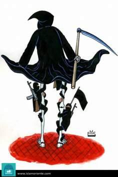 Caricatura -  Embaixo da saia da morte