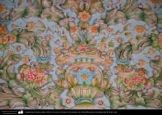 Исламская архитектура - Фасад кафеля с дизайном цвета и растения - Храм Фатимы Масуме (мир ей) - Кум - 11