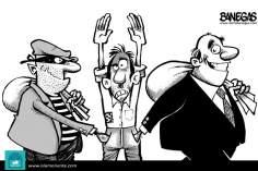 Caricatura - Banqueiros e ladrões