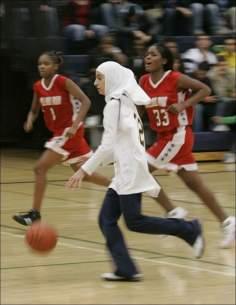 Femme musulmane - activité des femmes musulmanes, basket-ball