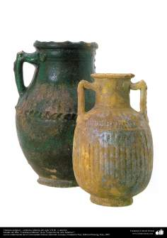 Cántaros antiguos – cerámica islámica del siglo VII dC. o anterior.