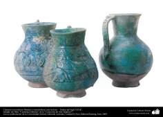 Cántaros con relieves florales y zoomórficos; este de Irán –  finales del siglo XII dC. (6)
