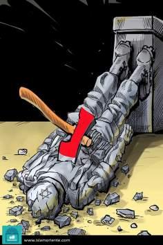 Окончательное падение сионизма (карикатура)