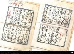 Caligrafía islámica persa estilo Nasj (Naskh), de artistas famosas antiguas - La súplica de días domingos
