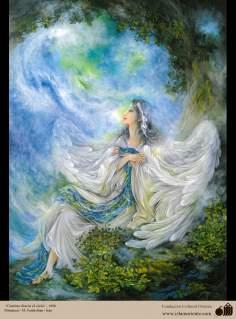 イスラム美術(マフムード・ファルシチアン画家のミニチュア傑作、「天国への道」