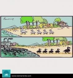 Caricatura - Campo e cidade