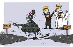 Caricatura: ¿Quiénes son partidarios de guerra en Siria?