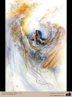 Celebración del conocimiento- Pintura Persa- Farshchian