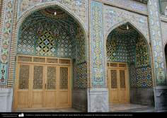 Islamic Ceramics and architecture -The view of a side of the Sahn  Imam Rida (P), at the Shrine of Fatima Masuma in the holy city of Qom - 4
