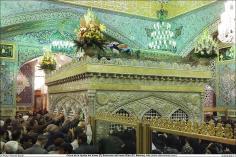 المعماریة الإسلامية - منظر من الضريح المقدس للإمام الرضا (ع) - قدس رضوي في المدينة المقدسة مشهد، إيران -  81