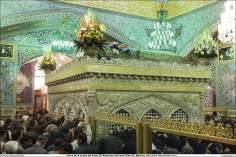 Peregrinos de todo o mundo rumão para o mausoléu do Imam Rida (AS), afim de realizar a visitação e fazer súplicas - Santuário do Imam Reda (AS) - Mashad Irã