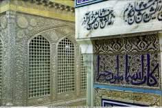 Architettura islamica-Vista del santuario di Imam Reza(P)-Mashhad in Iran-82