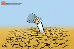 La crisi d'acqua (Caricatura)