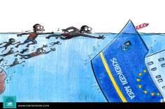 Caricatura - Crise imigratória