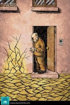 Crisis, escaso mundial de agua (caricatura)