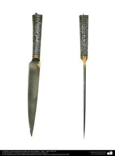 Cuchillos y otros utensilios decorados con finos detalles – India – siglo XVIII DC. (123)