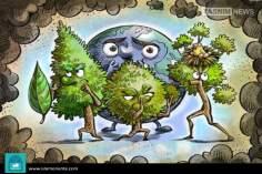 Caricatura - Em defesa o planeta terra