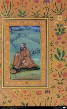 """""""Dervish"""" - miniature made in the first half of the seventeenth century AD."""