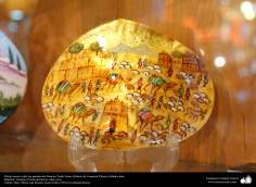 Dibujo hecho sobre las paredes del Palacio Chehel Sotun (Palacio de Cuarenta Pilares), Isfahán,